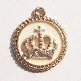 王冠チャームB ホワイト