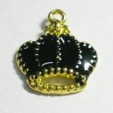王冠チャームA ブラック