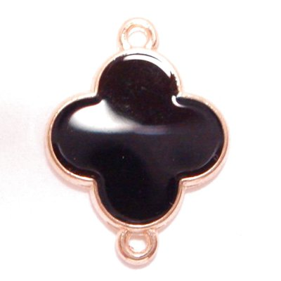 画像1: ジョイントパーツ クローバー型ブラックXゴールド