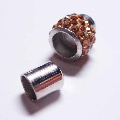 画像2: ラインストーン飾り付きマグネット(7mmホール) シャンパン