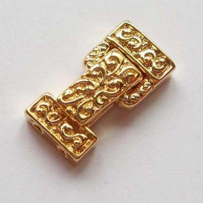 画像1: 折りたたみタイプクラスプC ゴールド