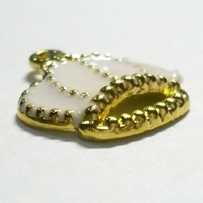 画像2: 王冠チャームA ホワイト
