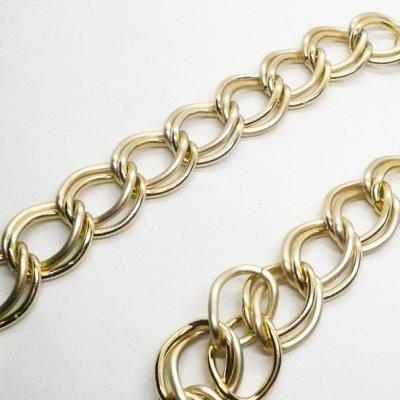 画像1: アルミチェーン ゴールドxマットゴールド  10cm単位