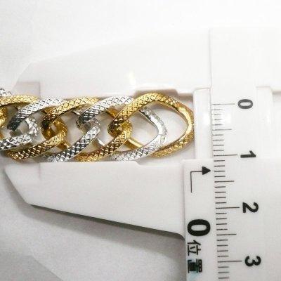 画像3: アルミチェーン シルバーXゴールドダブル  10cm単位