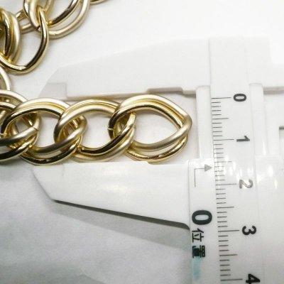 画像3: アルミチェーン ゴールドxマットゴールド  10cm単位