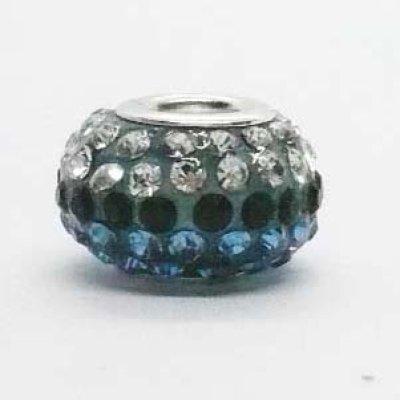 画像1: だ円ボール(M) クリスタル&ブルー&ブラックライン